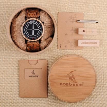 Ceas din lemn Bobo Bird P13