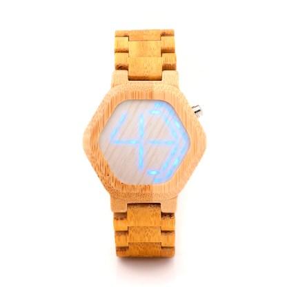 Ceas din lemn Bobo Bird led, E03