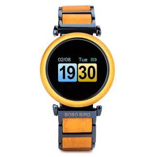 Smartwatch din lemn Bobo Bird, R27 galben