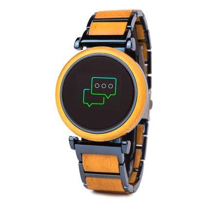 Smartwatch din lemn Bobo Bird R27 galben