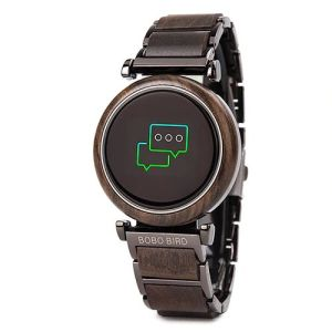 Smartwatch din lemn Bobo Bird, R27 negru