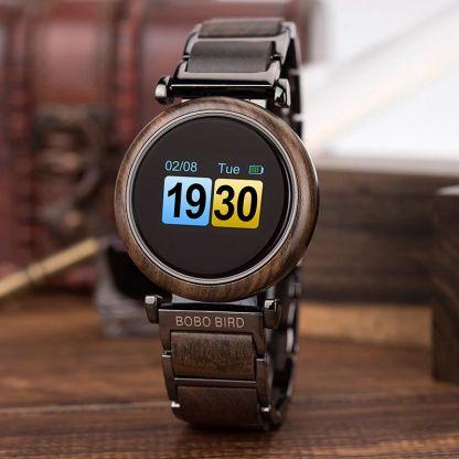 Smartwatch din lemn Bobo Bird R27 negru