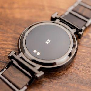 Smartwatch din lemn Bobo Bird, negru