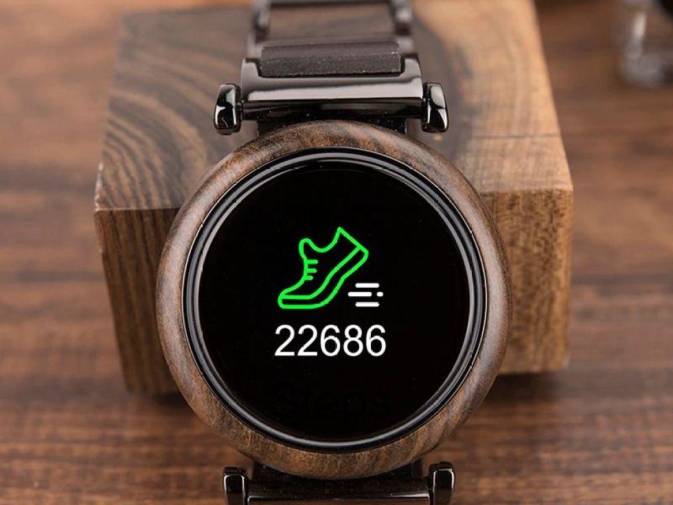 Smartwatch din lemn Bobo Bird negru