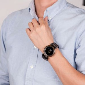 Smartwatch din lemn negru
