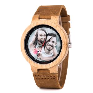 personalizare ceas de mana din lemn