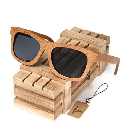 Ochelari de soare din lemn Bobo Bird BG003, lentila gri