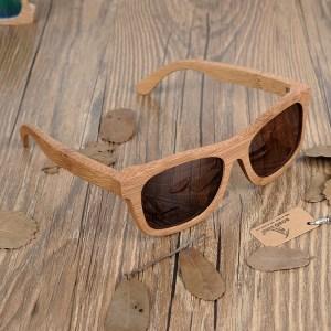 Ochelari de soare din lemn Bobo Bird BG003 lentila maro