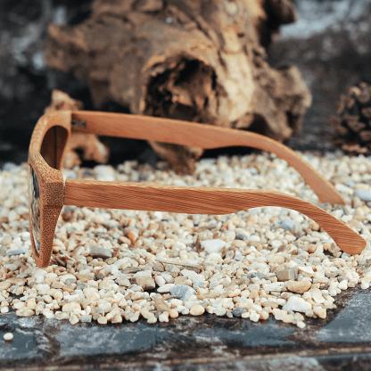 Ochelari de soare din lemn cu lentila maro