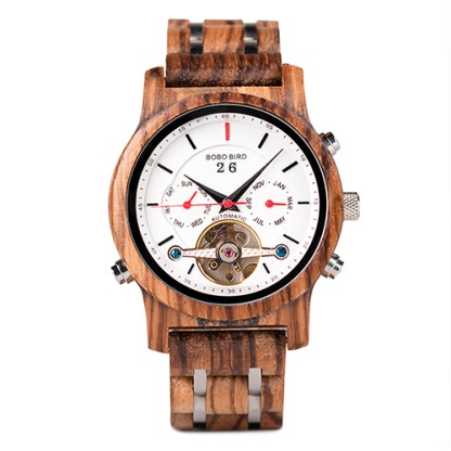 Ceas din lemn Bobo Bird mecanic Q27-2 albCeas din lemn Bobo Bird mecanic Q27-2 alb