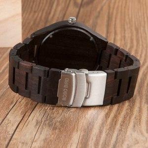 Ceas din lemn Bobo Bird clasic cu curea din lemn, O03