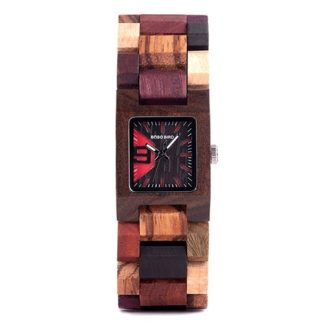Ceas din lemn Bobo Bird cu curea din lemn, S02-2