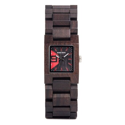 Ceas din lemn Bobo Bird cu curea din lemn S02-1