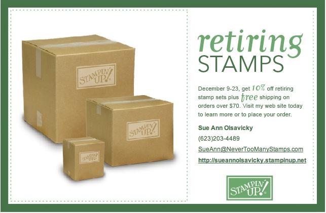 10% off Retiring Stamp Sets until Dec 23