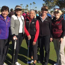 Left to right: Pat Kaer, Anna Schuchman, Tina Stepzinski, Lynn Havens, Sharon Adamy (not pictured Diana Martell