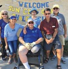 Board members Judy Ruck, Lil Wattenberg, Carl Schatz, Alice Neuwirth, Mark Frumkin and Steve Shaffer welcome Sun City Grand on November 13.