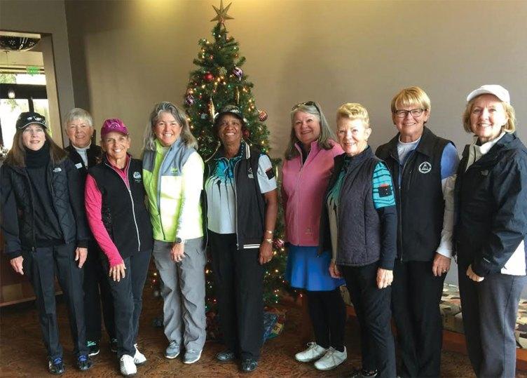 Left to right: Kearin Kasper, Sue Harrison, Marilyn Reynolds, Ellen Enright, Carolyn Suttles, Carol Sanders, Jane Hee, Kathy Hubert-Wyss, Barbara Patrow