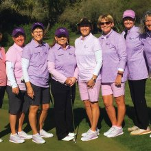 Left to right, Roadrunners Team: Kittie Day, Renee deLassus, Sarah Marsh, Amber Rivera, Mary Harris, Kathy Hubert-Wyss, Sheri Sears, Ellen Enright