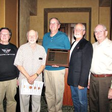 2017 Top Shooters (left to right) Steve Schneider, Walt Hohlstein, Dan Borchers, Lou De Carolis and Darwin Puls; missing: Roger Bunting