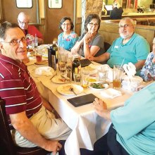 Twenty-six members of the Italian-American club enjoyed lunch at Romano's Macaroni Grill.