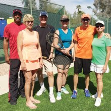 Winners of Doubles or Nothing Tournament: Level A - Troney Hutchins and Melodie Boyer; Level B - Doug Stansfield and Lorinne Banister; Level C - Dennis and Norma Whitley
