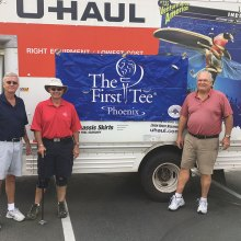2017 TFT Equipment Drive 1 - Drive workers, left to right: Larry Murray, Howie Tiger and Steve Straley