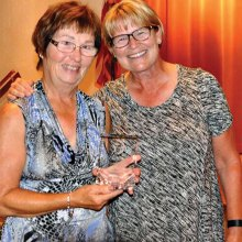 Best Attendance: Charlene Held with Kathy Hubert-Wyss