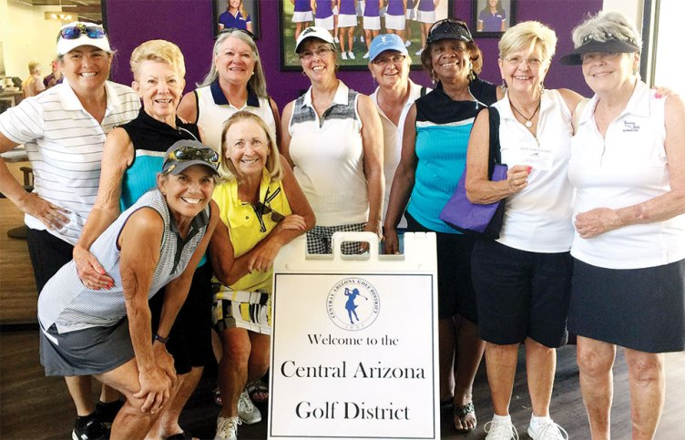 Back, left to right: Ellen Enright, Jane Hee, Carol Sanders, Ann Page, Donnie Meyers, Carolyn Suttles, Arlene Engelbert and Nan Perkins; front: Marilyn Reynolds and Linda Thompson