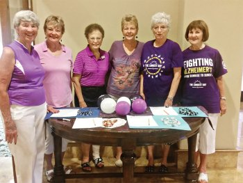 Helpers for the Alzheimer's fundraising event, left to right: Mary Lou Cralle, Judy Laxineta, JoAnn Enyeart, Jackie Wielgosz, Sue Woodard, Syd Mersereau; Marlene Wickizer and Rosemary Vana not pictured.