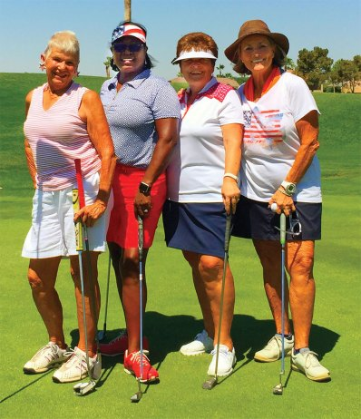 Left to right: Cheryl La Motta, Emma Mosley (low net, flight one), Sharon Johnson, Judy Newell