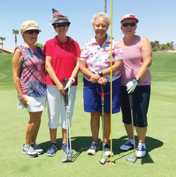 Left to right: Jean Goodin, Valerie Bobigian, Sharon Dawe, Sue Harrison