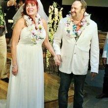 Newlyweds Julie and Art Softley
