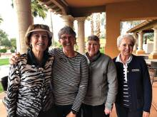 Winners TF East Front: Dee Reynolds, Norma Guillaume, Jacque Monroe and Dorothy Washer.