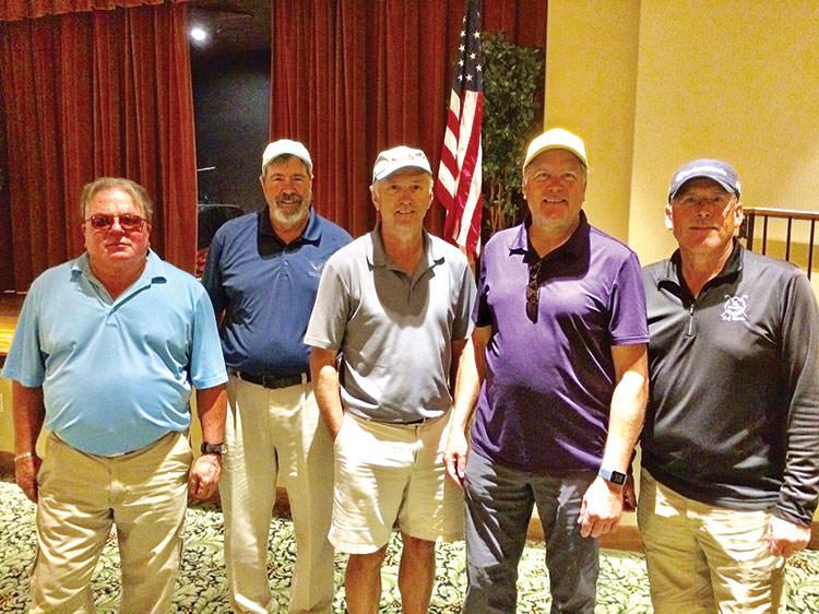 MWC Blue Flight Winners (left to right): Brad Johnston, Bob Richards, Dan Schmillen, Kevin Sandberg and Tom Klein; not pictured Bob LeClair