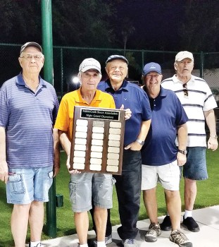 Left to right: Jerry Oaks, Jeff Young, Chris Mucha, Trevor Ballinger and Keith Paffafiume. Not shown: Garrett Siegers, Dan Zeh, Bill Schroeder and Dave Willison.