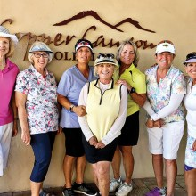 LASSI winners (left to right): Carol Taylor, Barbara Chilton, Andrea Dilger, Donna Havener, Judy Newell, Ellen Enright and Cindy Sota.