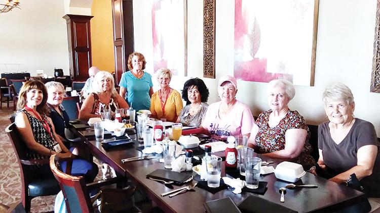Left to right: Indy Rebhun, Gerri Einfeldt, President Bari Cavallo, Nancy Phipps, Arlene Engelbert, Social Chair Cristina Junge, VP Sue Harrison, Paula Westermeyer, and Judy Gallob; Missing: Carolyn Moore, Lindsay Laven, and Nevin Nelson.