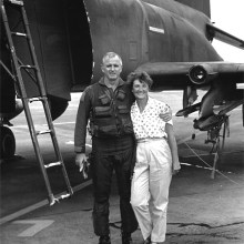 Colonel Lou and Mrs. Lois Tronzo at Clark Air Base in the Philippines (1988).