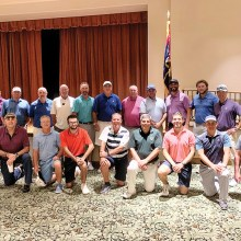 Golf professionals who participated in this year's PCMGA pro-member tourney.