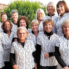 2019-20 Eagle's Nest Cholla team—Back row (left to right): Claudia Tiger, Ellen Stergulz, Mary Falso, Liz Wenzler, Kathy Enegren, Peggy Steffan; Middle row: Barbara Rossi, Carolyn Suttles, Carolyn Apodaca, Michele Cattin; Front row: Debbie Sayre (captain), Chanca Morrell (co-captain), Teresa Christianson, Judy Hauser; Not pictured: Linda Krier, Joanne Pollock, and Nancy Fackelmann