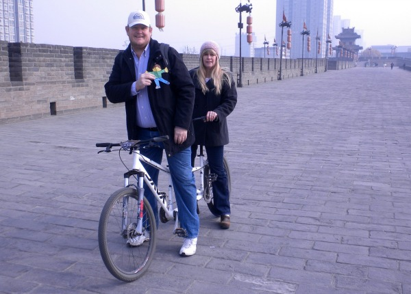 8 Things to Do and See in Xi'an China Biking on the City Wall