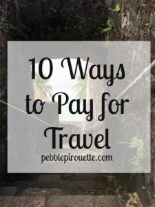 10 Ways to Pay for Travel