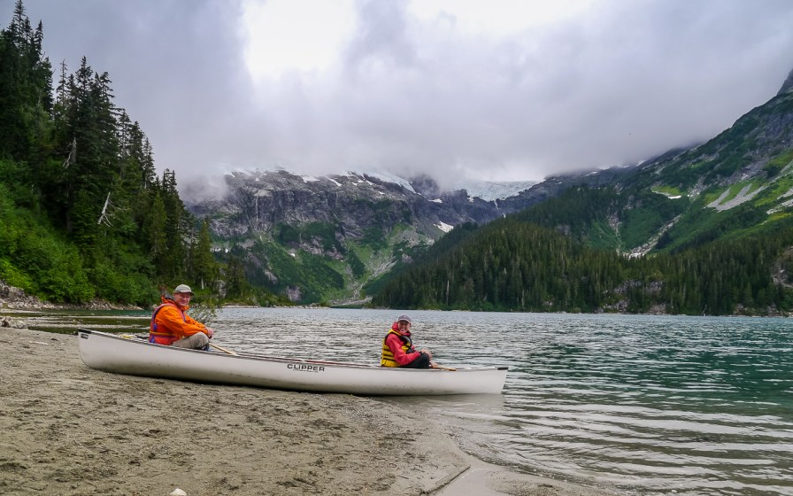 Getting ready to Canoe back to the Tantalus Hut from the Sandspit camp