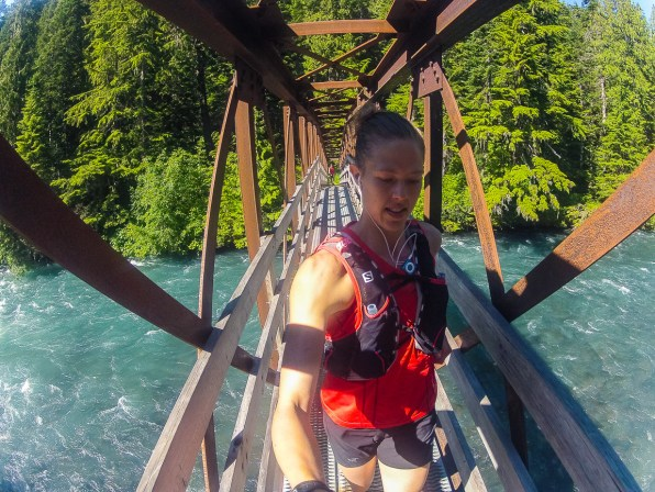 Coming over the Cheakamus River.