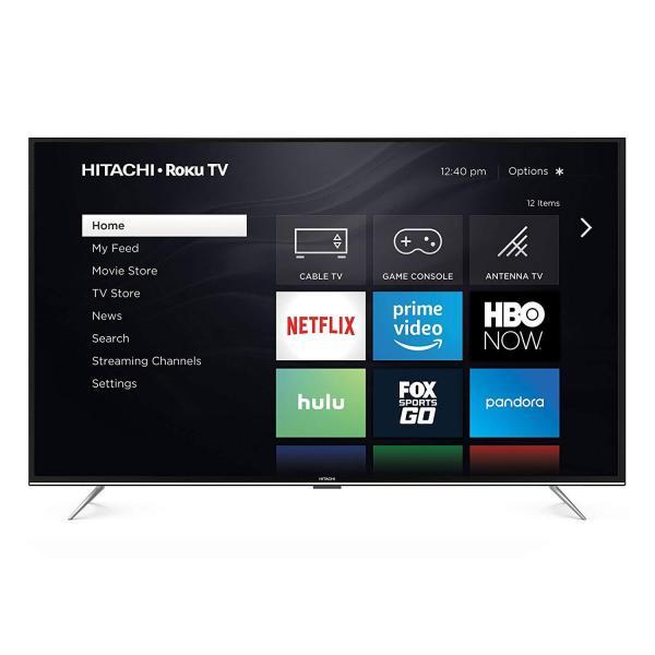 """Hitachi 43RZ5 43"""" 1080p Roku Smart LED TV, Black (2018 Model)"""