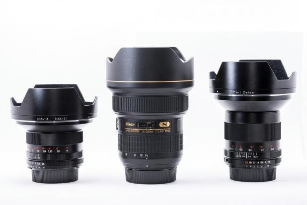 Vergleich: Zeiss 18mm, Nikon 14-24mm, Zeiss 21mm