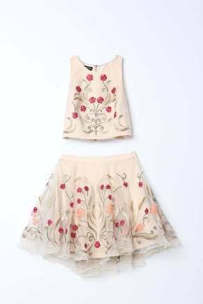 Bebe_Two Piece Embroidered Dress_AED 825
