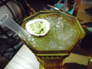 green apple, passion fruit and lime mocktail