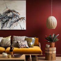41+ Understanding Red Theme Living Room