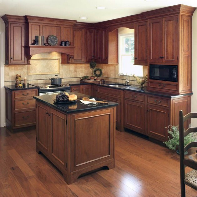33+ Cherry Wood Cabinets for Small Kitchen Design ...
